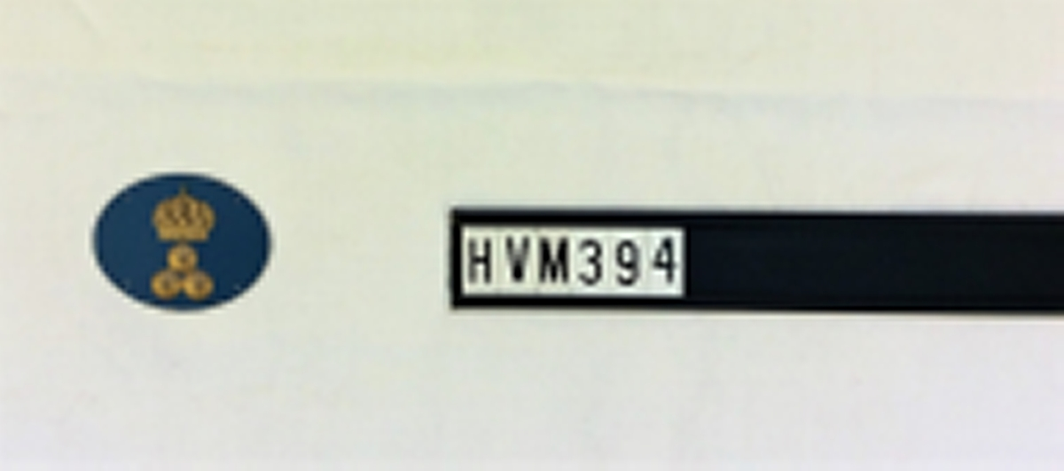 Plåtmärke för driftvärn