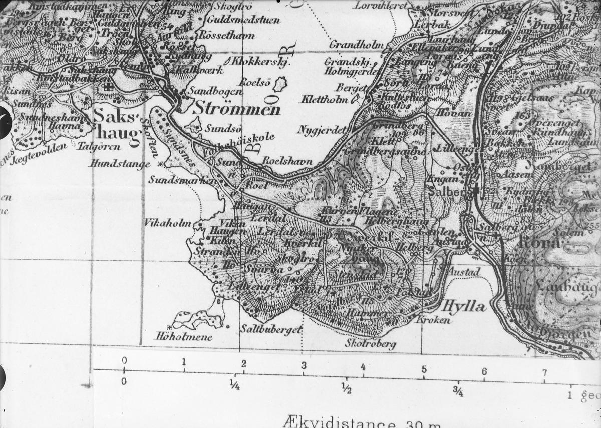 kart strømmen Utsnitt av kart over Inderøy, Strømmen   SverresbTrøndelag