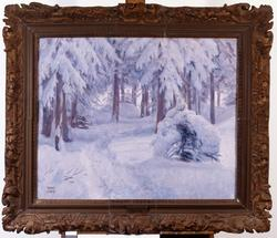 Vinterskog [Maleri]