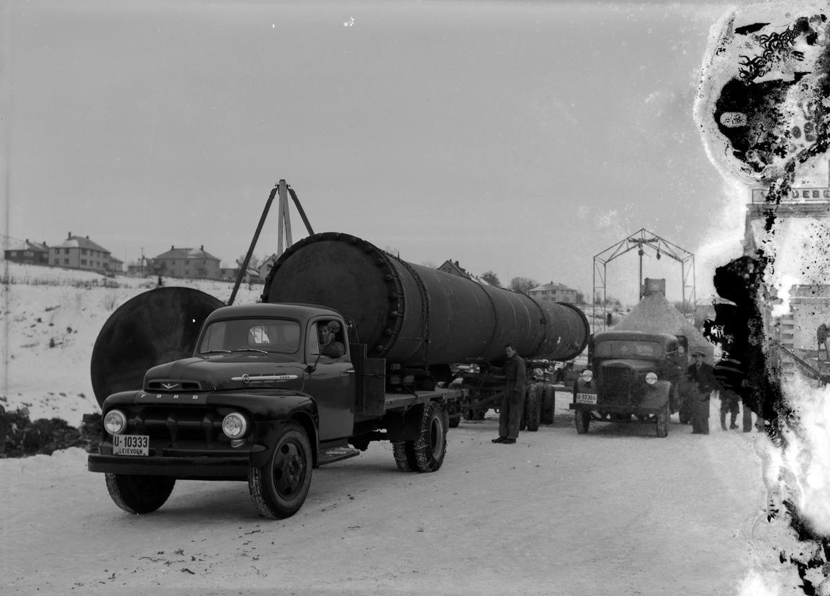 Transport av rør, Ladebekken Verksteder