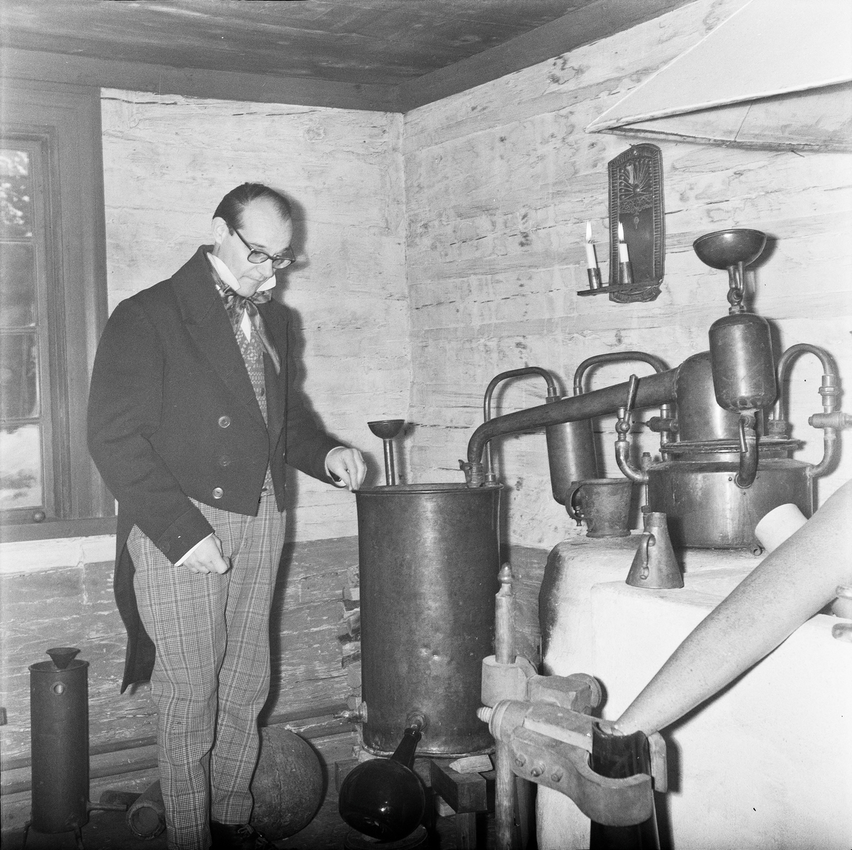 Apoteket på Skansen. Destillering. Pedagog