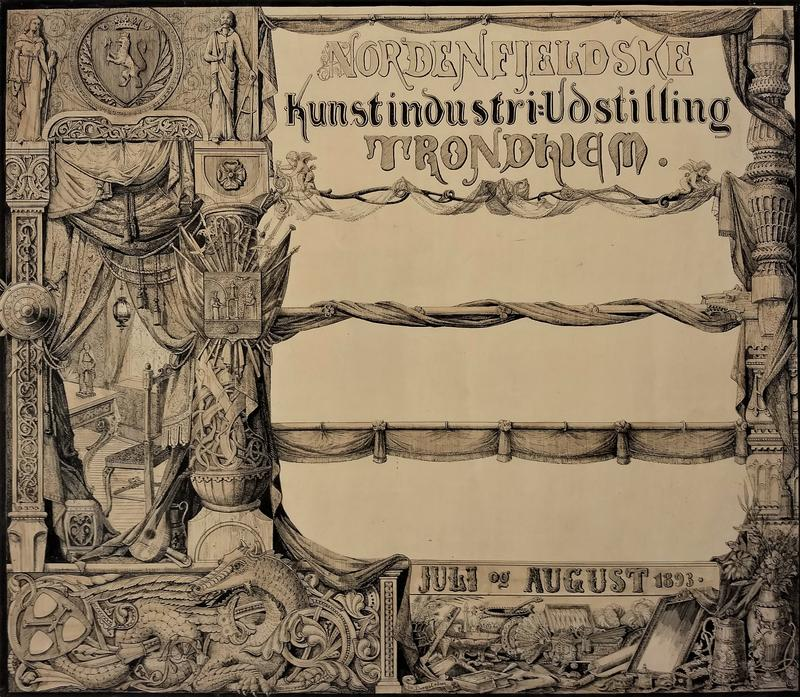 Plakat for Nordenfjeldske Kunstindustriutstilling (Foto/Photo)