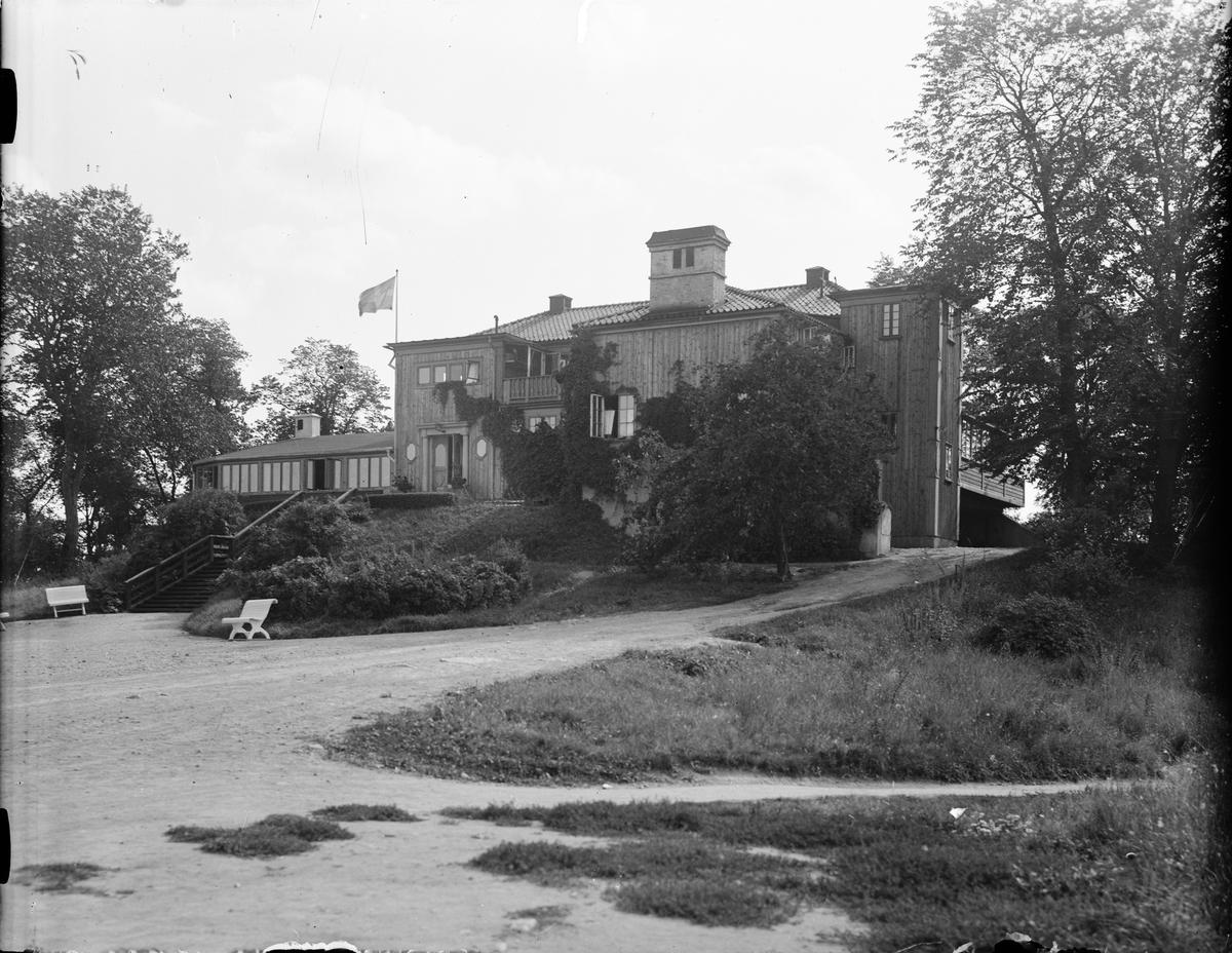 Restaurang Skarholmen, Skarholmen, Sunnersta, Uppsala augusti 1936