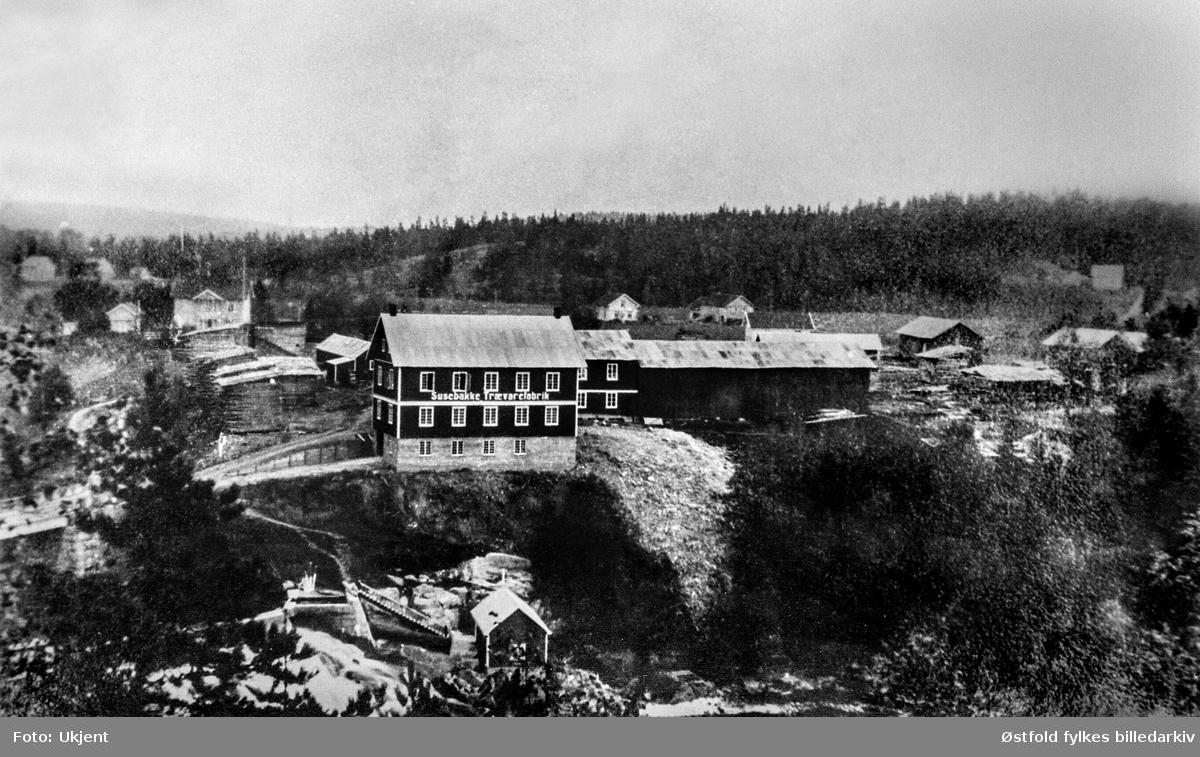 Susebakke Trævarefabrik i Mysen, Eidsberg ca. 1920(?).