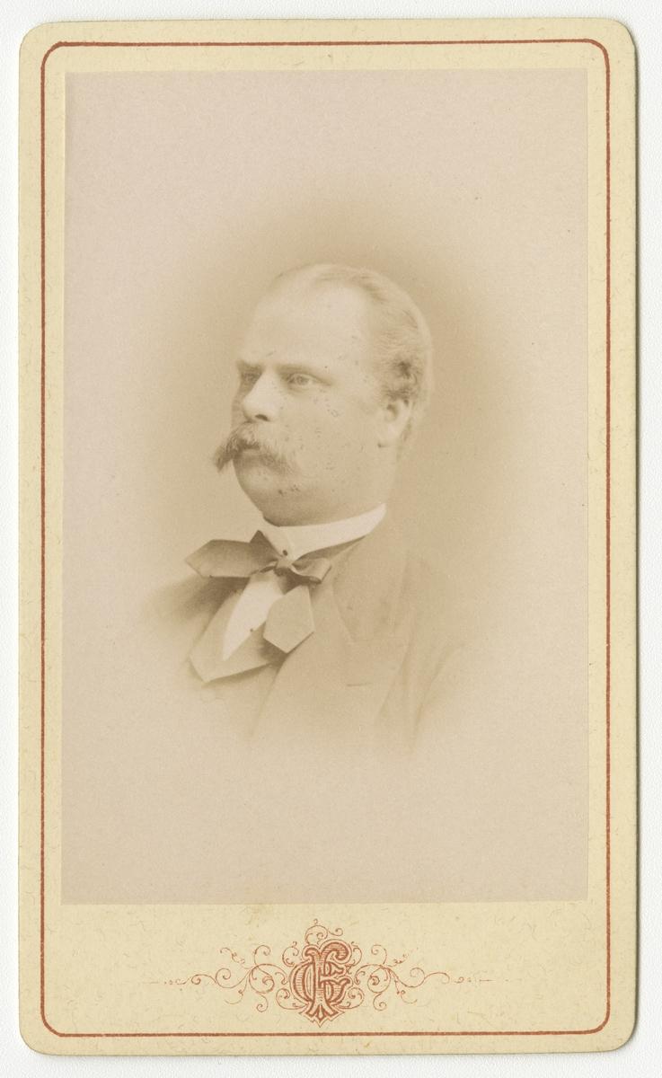 Porträtt av Carl Gustaf Alexander Sederholm, officer vid Västgöta regemente I 6. Se även bild AMA.0009455 och AMA.0009551.