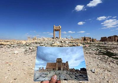 Palmyra before after