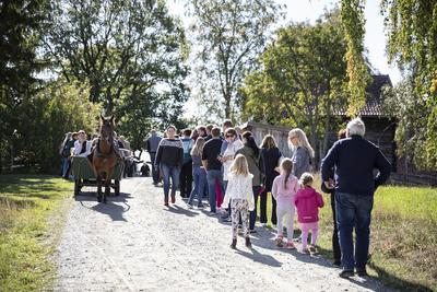 På vei opp tunet, Gamle-Hvamsdagen. Foto/Photo