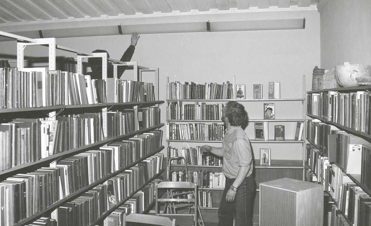 Idre Bibliotek. Gutta på Skauen. Montering