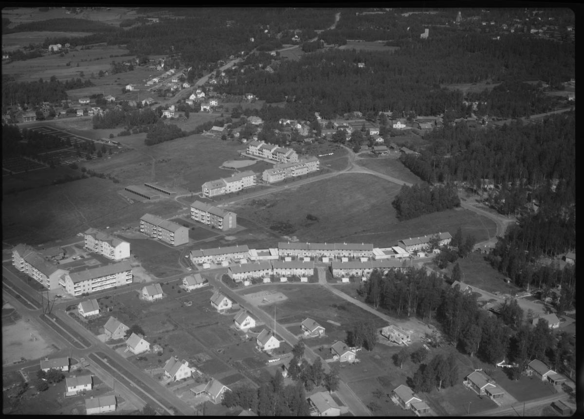 Flygfoto över Norberg. Tagen 1962 av AB Flygtrafik Dals Långed.