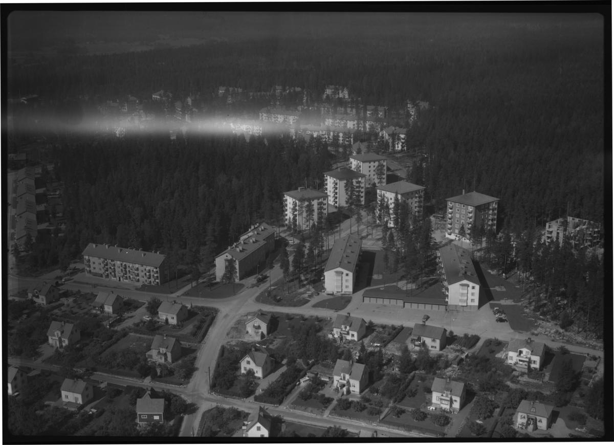 Flygbild över Fagersta. Tagen 1958 av AB Flygtrafik Dals Långed.