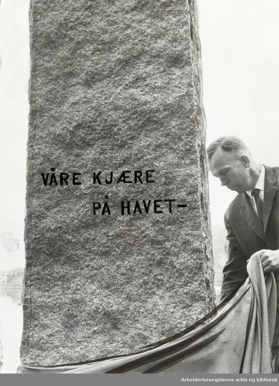 Bygdøy, Sjømannsmonumentet avduket. Oktober 1966