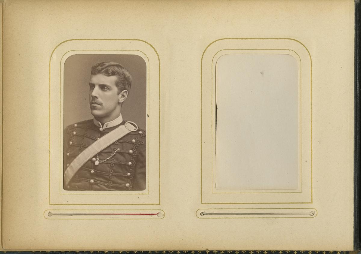 Porträtt av Carl Gustaf Axelson, underlöjtnant vid Wendes artilleriregemente A 3.