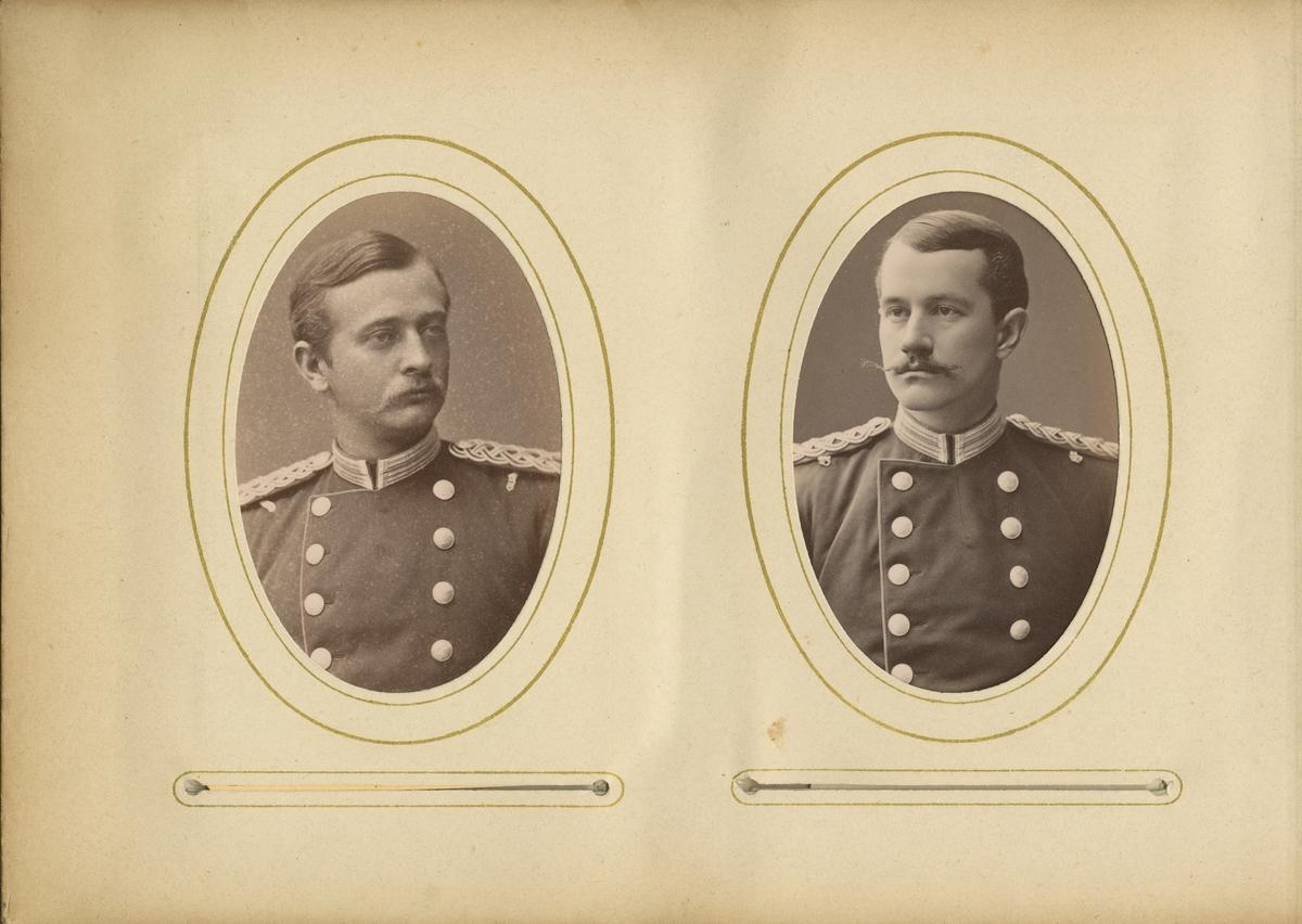 Porträtt av Axel Richard Fabian Kindstrand, officer vid Andra livgrenadjärregementet I 5.  Se även bild AMA.0007753, AMA.0007805 och AMA.0009540.