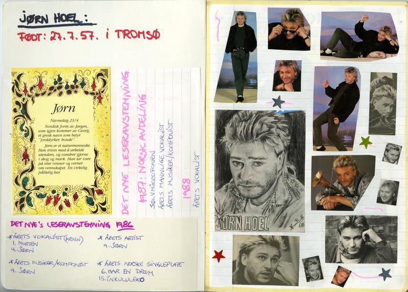 En av sidene fra utklippsbøkene som vi har fått fra en dedikert fan av Jørn Hoel. (Foto/Photo)
