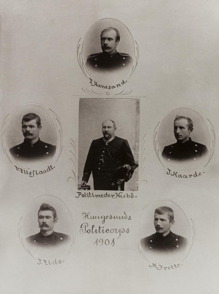Gruppebilder - Haugesunds Politicorps 1901