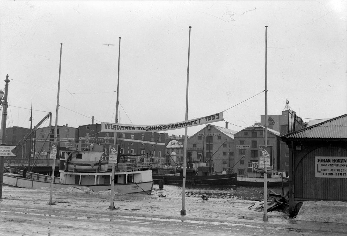 Brosjyrer og banner, NM på ski i Trondheim