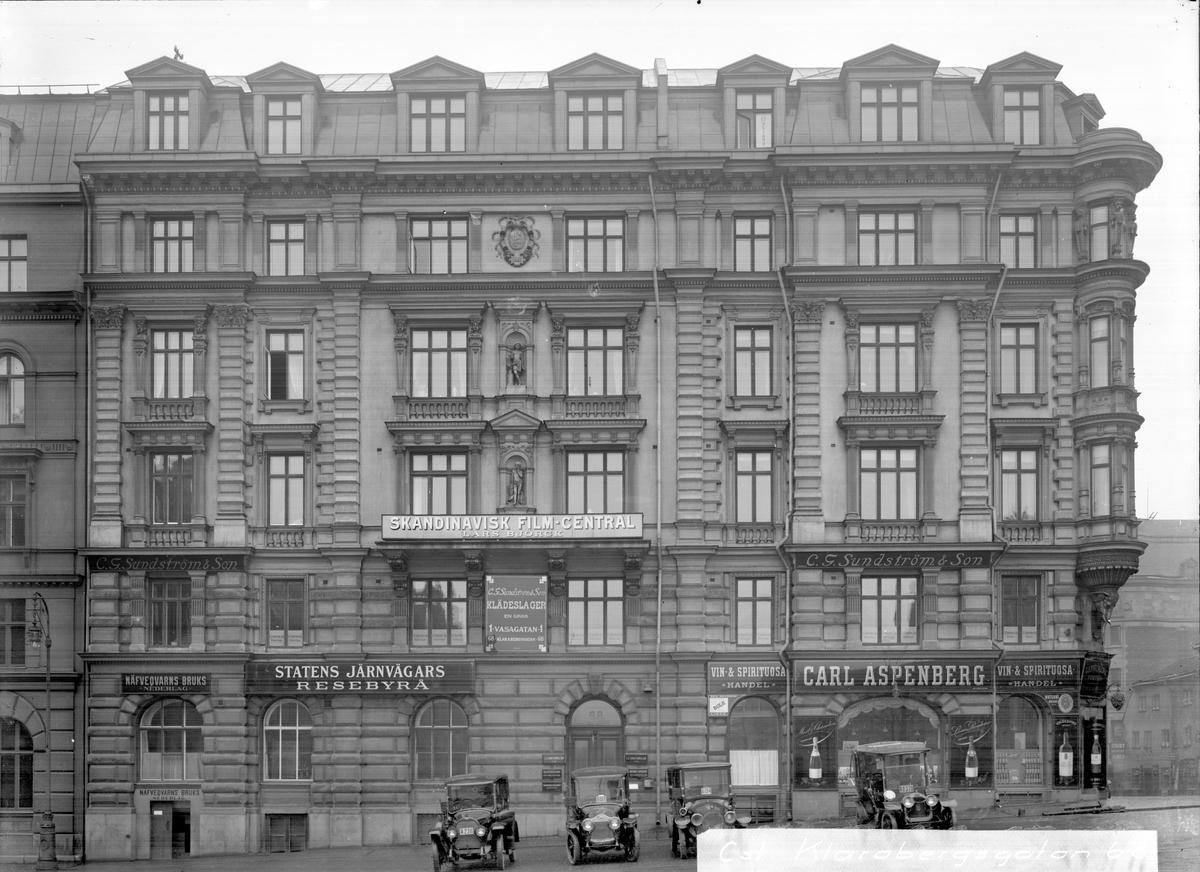 Klarabergsgatan 68 i Stockholm. Statens Järnvägars Resebyrå