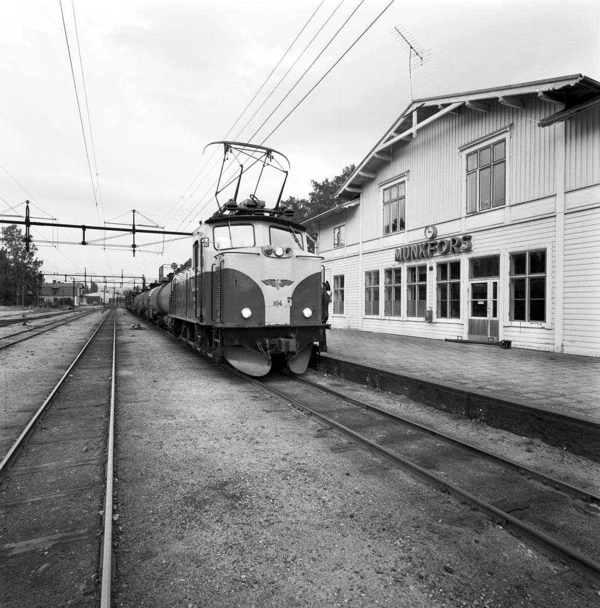 NKLJ 104. Nordmark Klarälvens Järnväg. Munkfors station