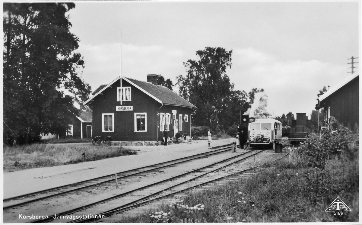 Korsberga station.
