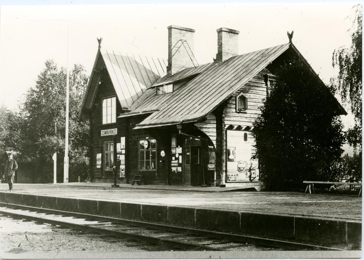 Moälvens järnvägsstation.