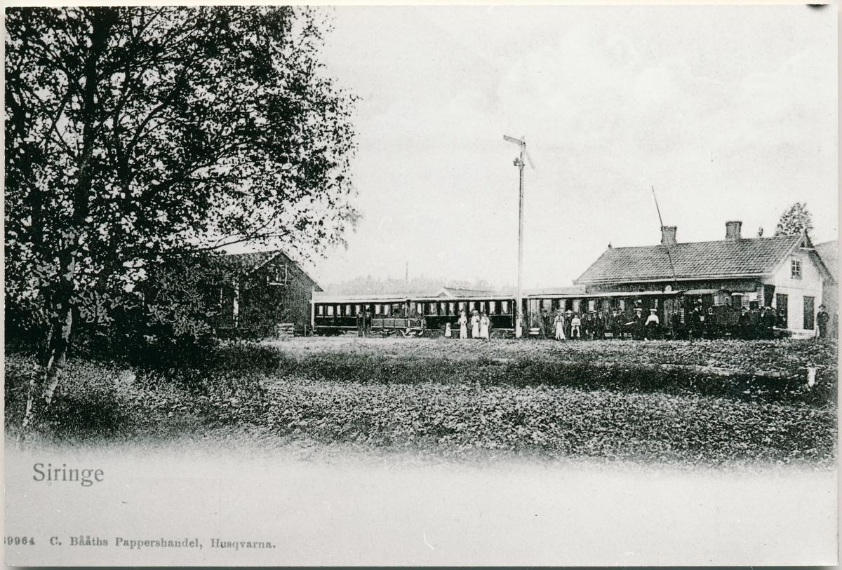 Station öppnad 1899. Station med stationshus och godsmagasin. Den blev nedlagd 1935.