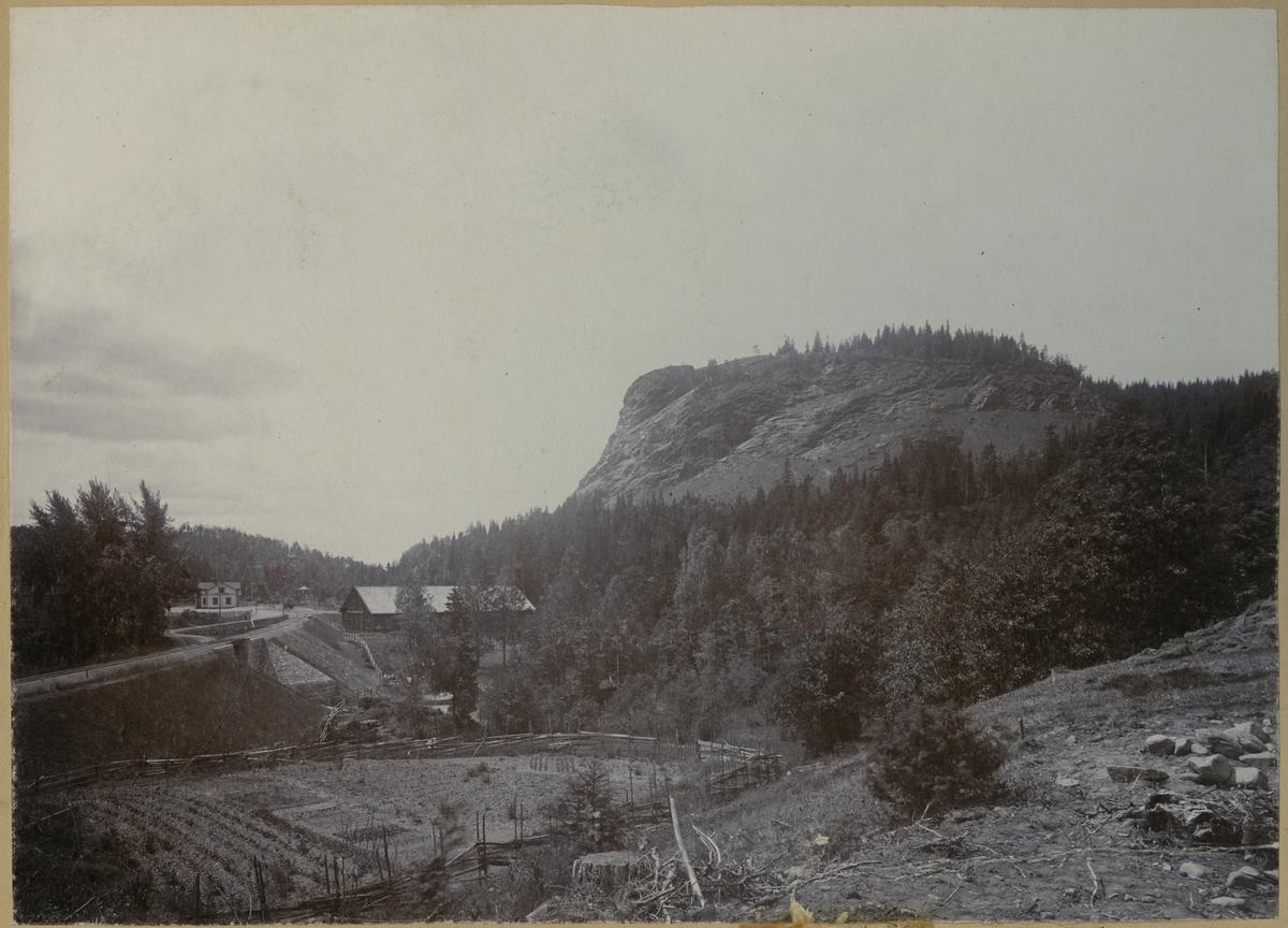 Smålands Taberg från Byarumsvägen år 1895.