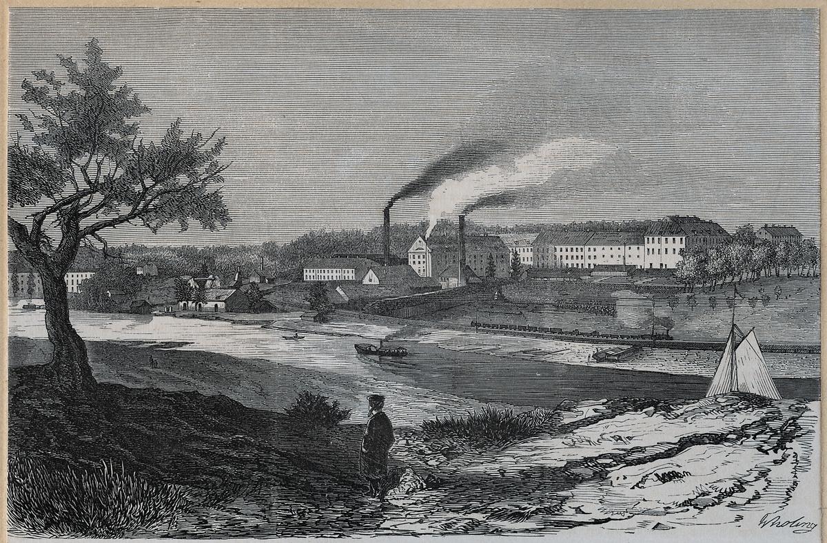 Rörstrands porslinsfabrik vid Karlbergssjön i Vasastan i Stockholm