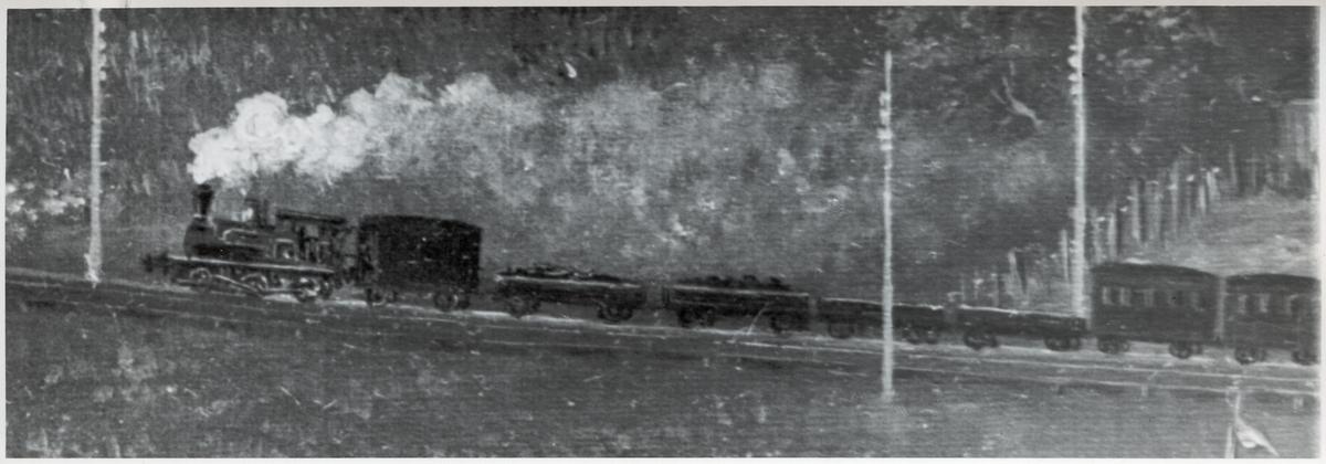 Rörstrands porslinsfabrik. Detalj med tåget.