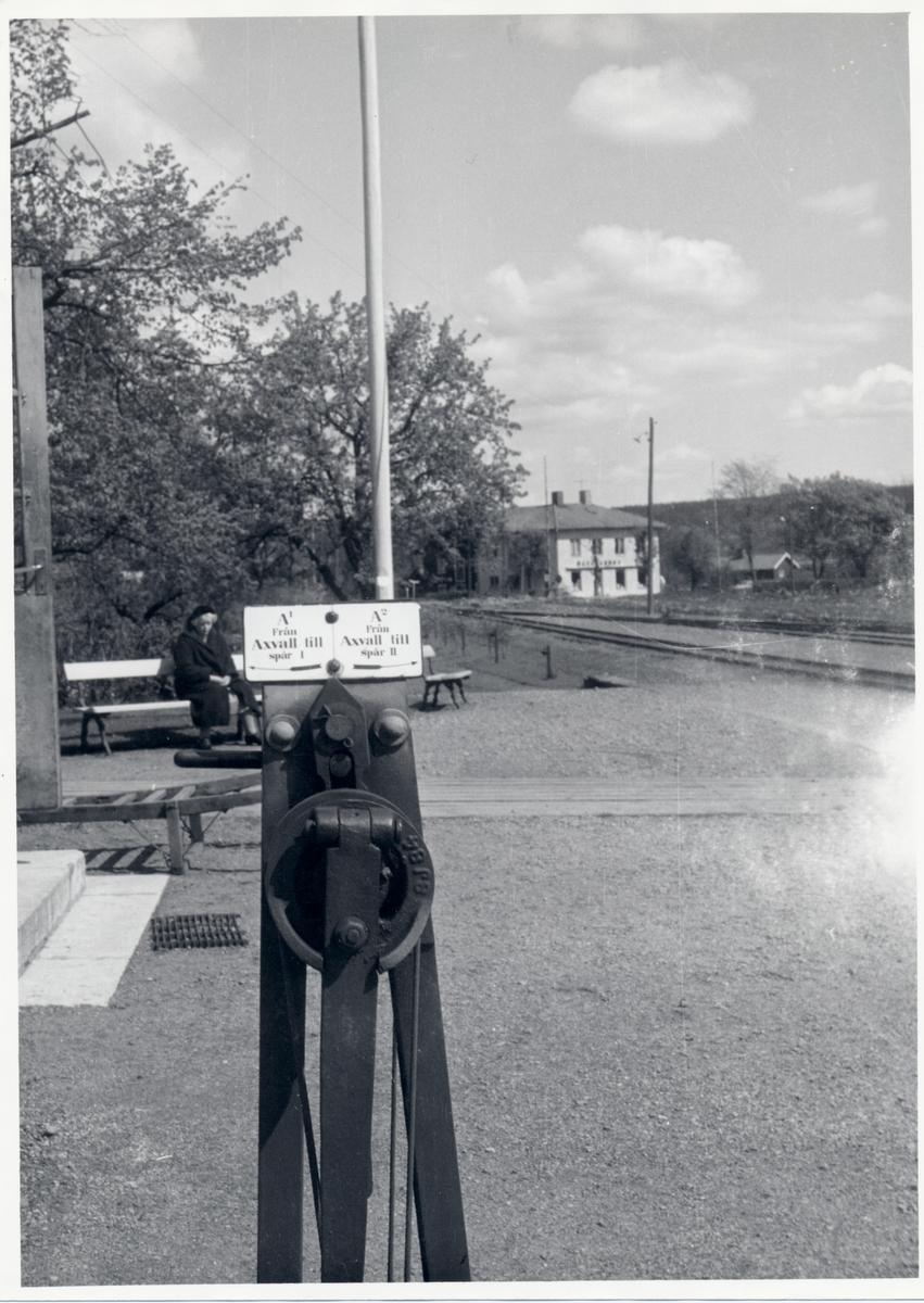 Skövde - Axvalls Järnväg, SAJ. Ställverket i närbild.