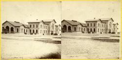 Ystad Stationshus byggt 1864 av den danska byggmästaren Wulf