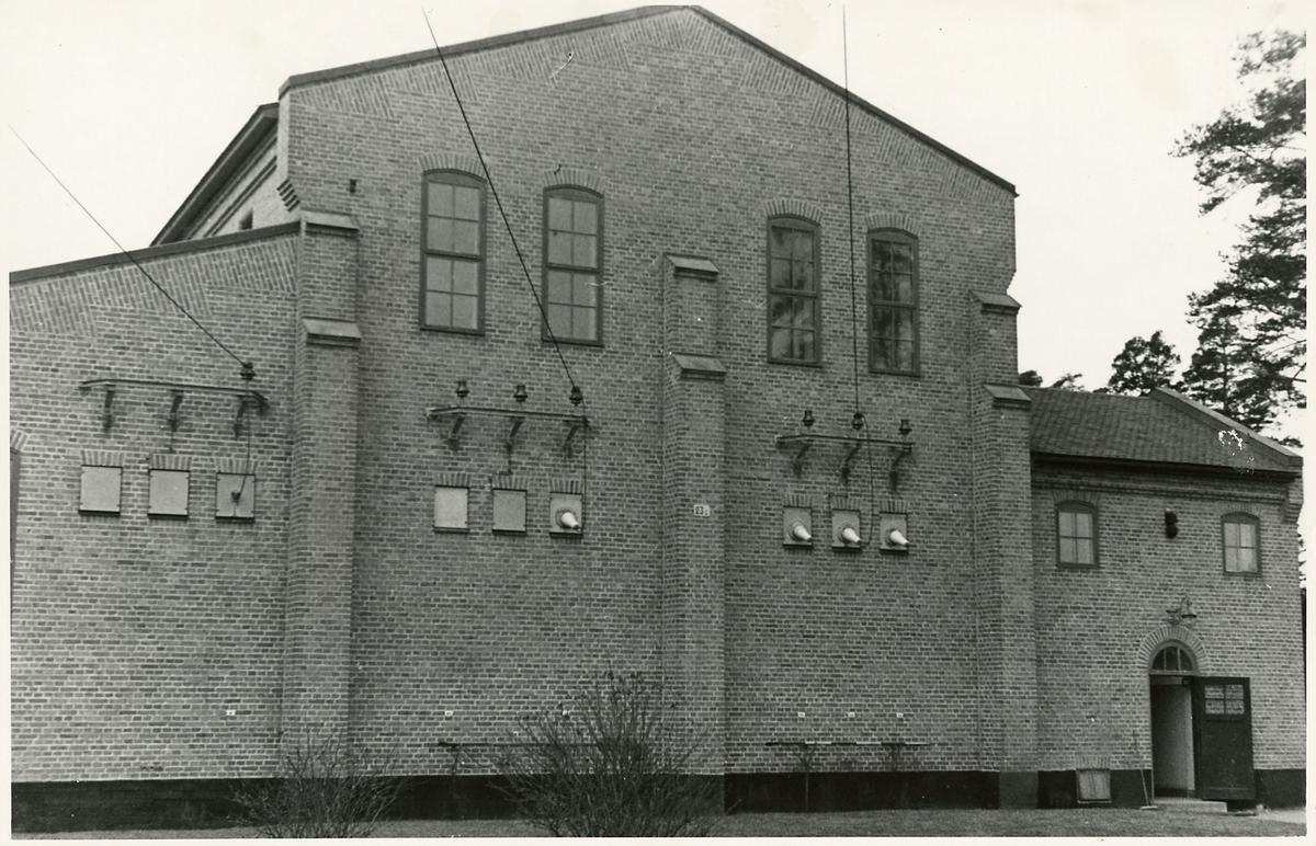 Byggnad på stationsområdet vid dåvarande Södertälje Södra station.
