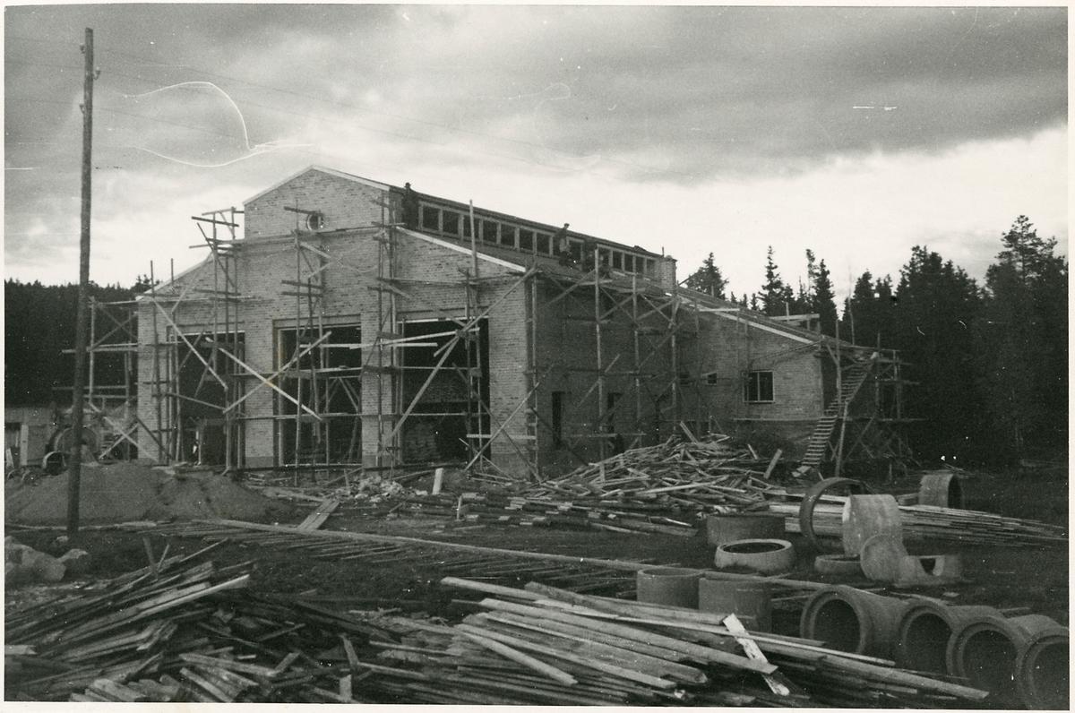 Byggarbetsplats i Ånge.
