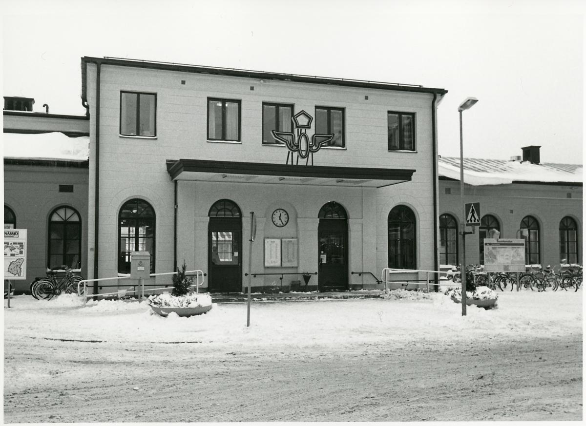 Nässjö station från gatusidan.