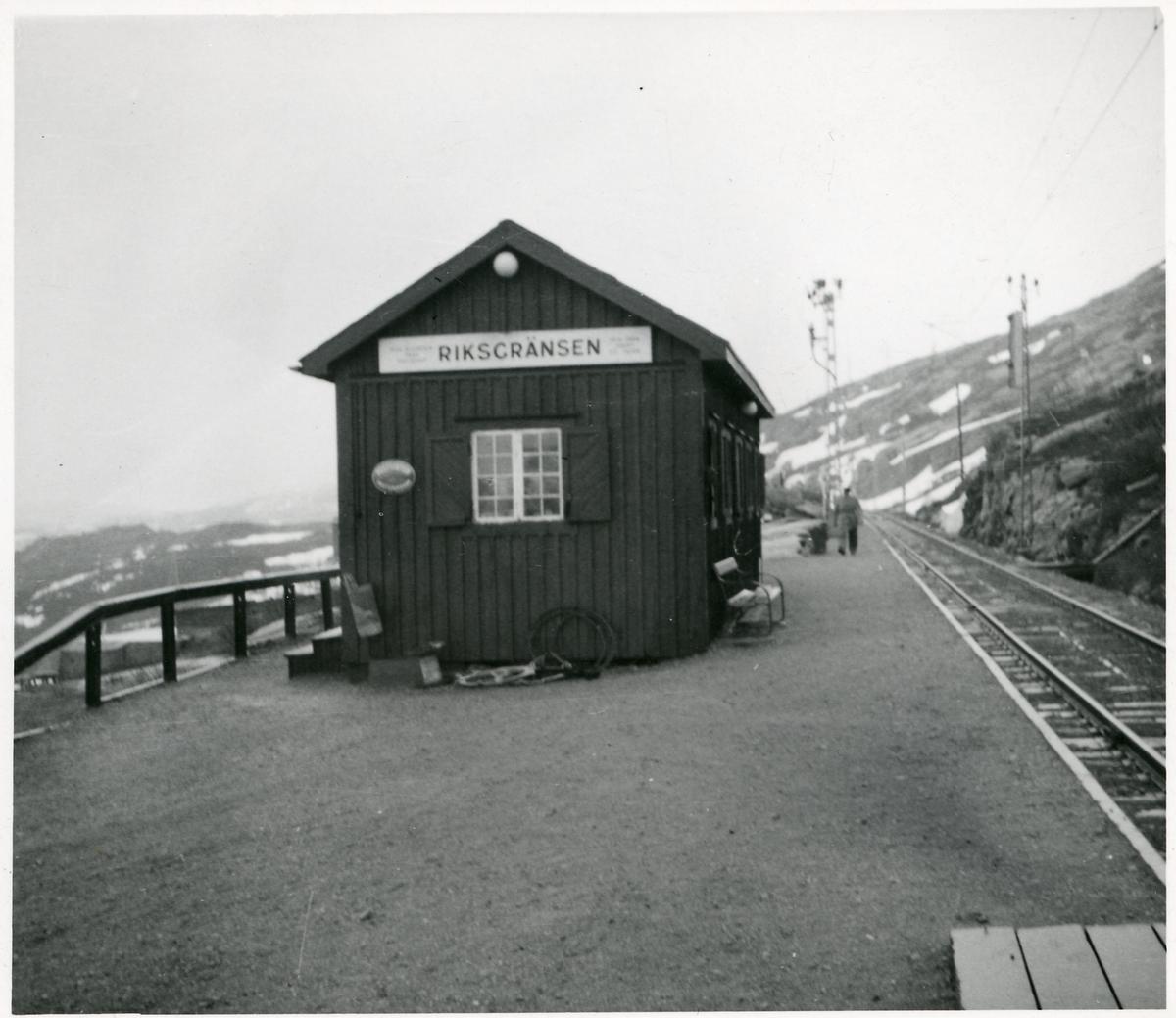 Riksgränsen, stationshus.