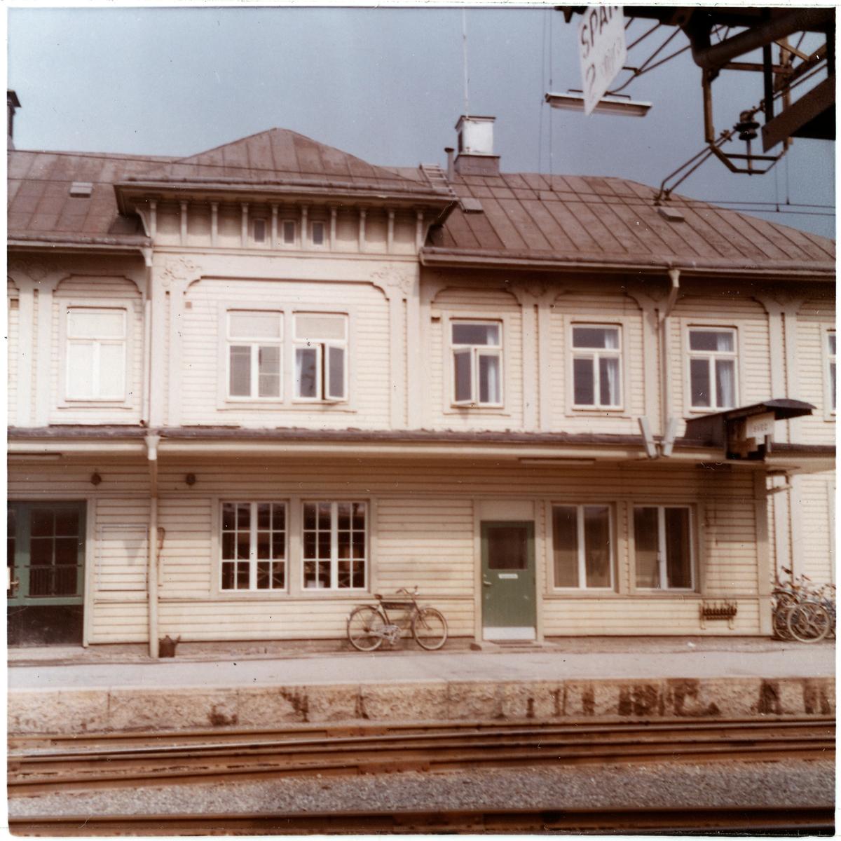 Del av fasaden.