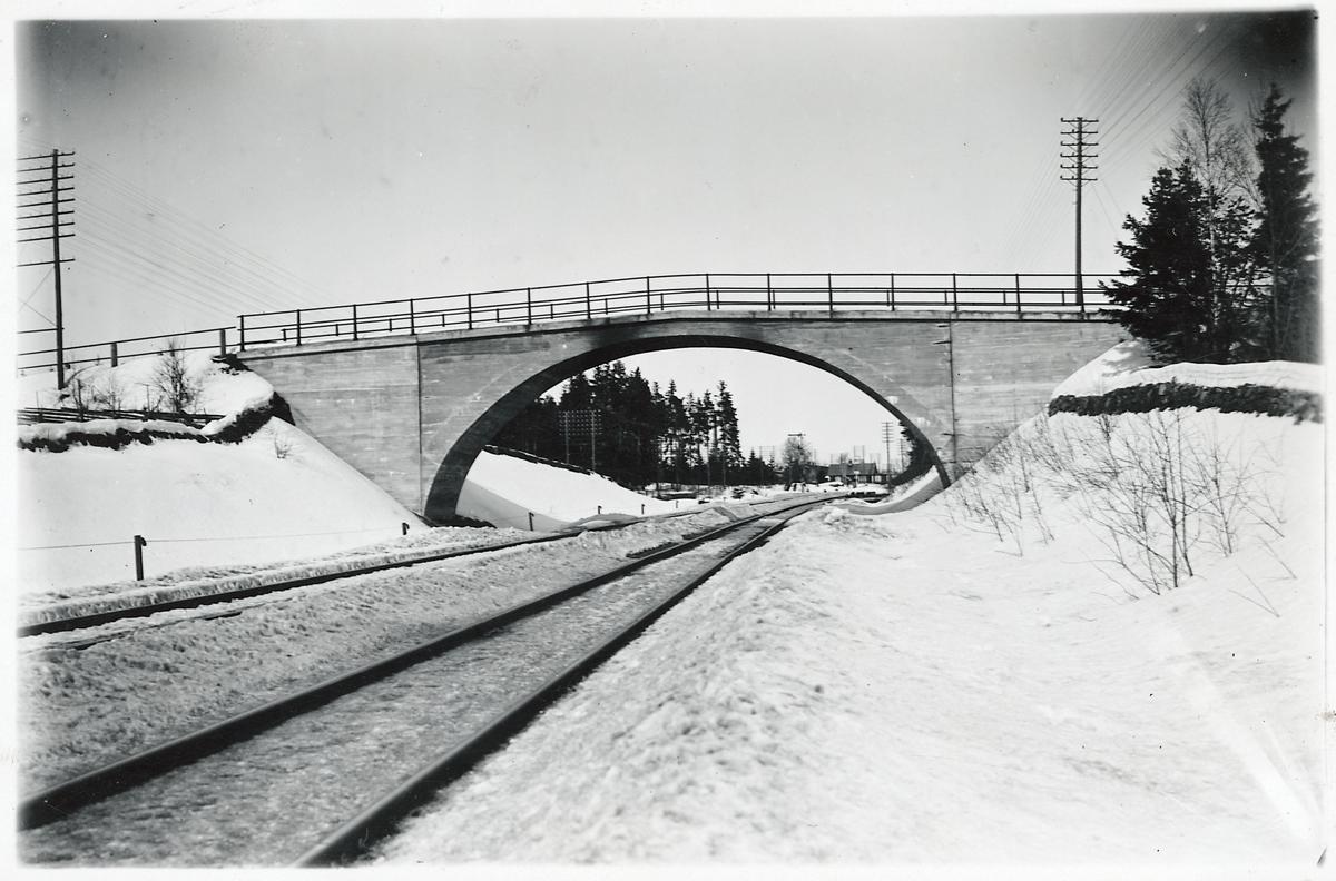 Vägbro i Hornaryd på linjen mellan Bodafors och Sävsjö.