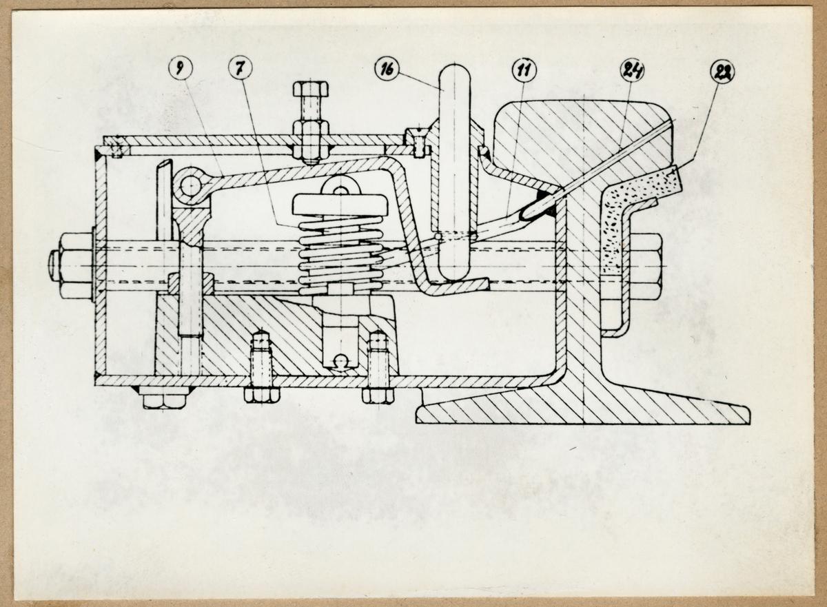 Den av G.A. Johansson konstruerade fasta smörjapparaten.