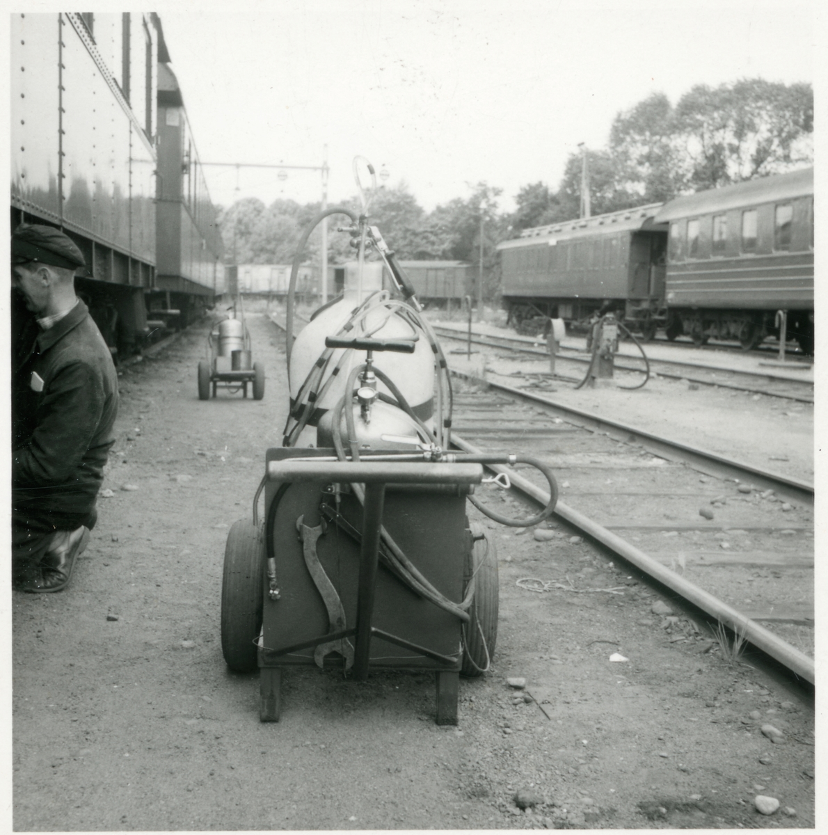 Oljesmörjning av passagerarvagn.