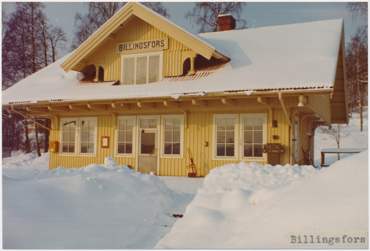Billingsfors stationshus.