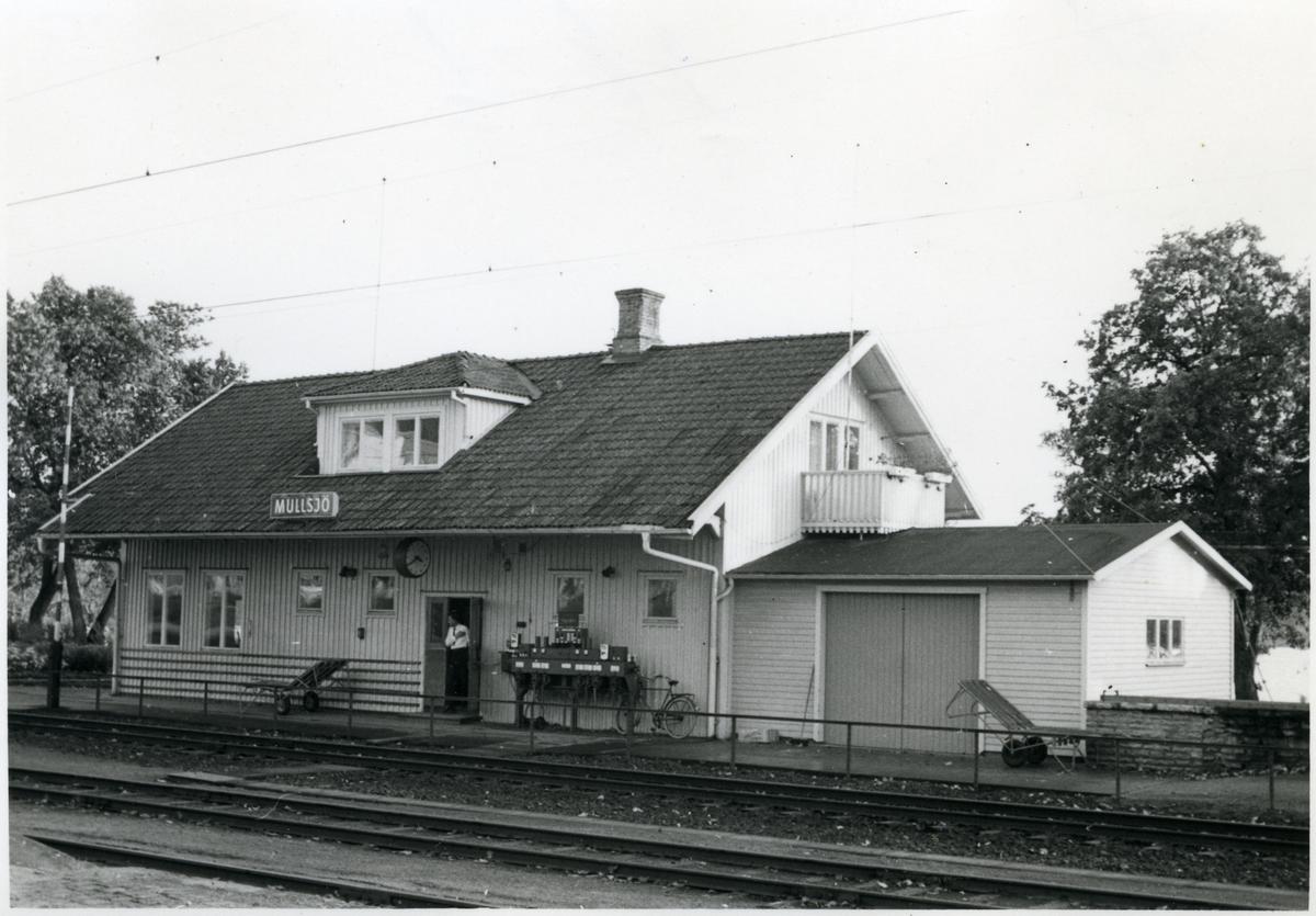 Envånings stationshus i trä.