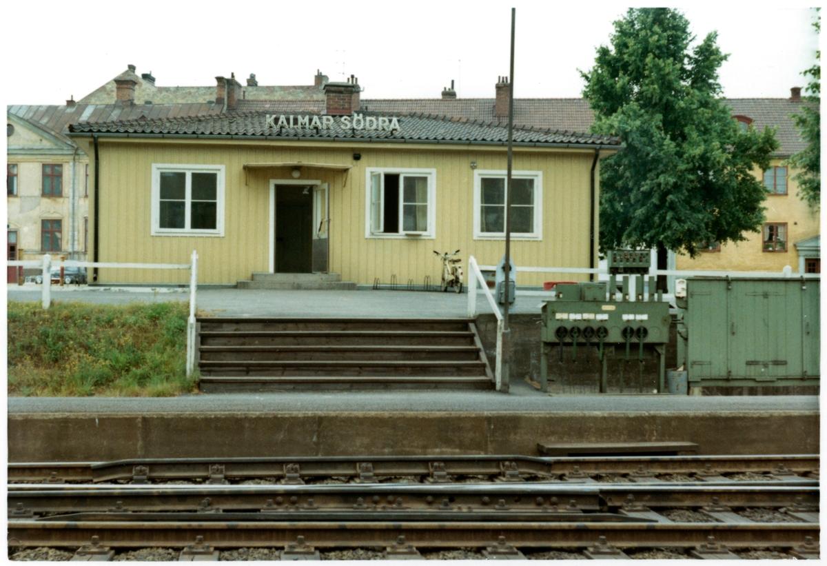 Stationen anlades 1927 . Ny lokstation anlades här 1927.  Envånings stationshus