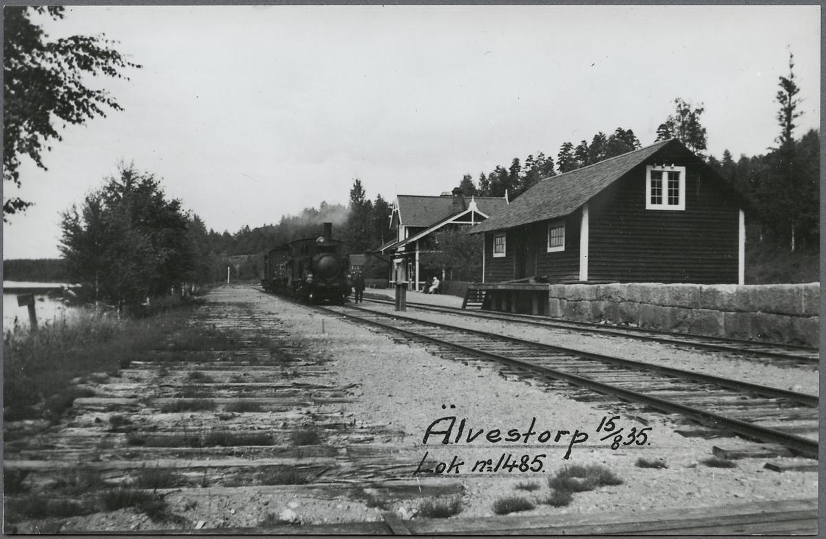 Älvestorps station. Statens Järnvägar, SJ Hva 1485.