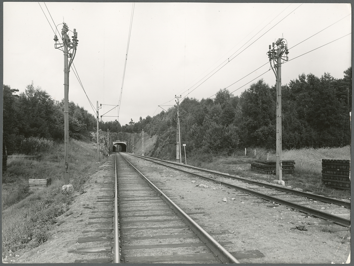 Järnvägstunnel.