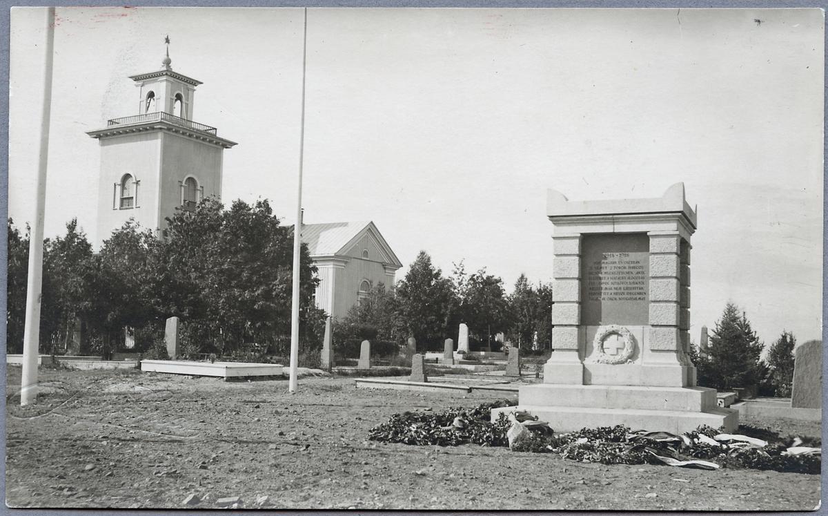 Monument över fallna militärer i Första Världskriget.
