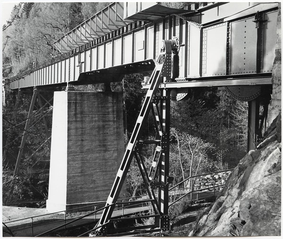 Järnvägsbro över Dalslands kanal och Upperudsälven på linjen mellan Årjäng och Mellerud.