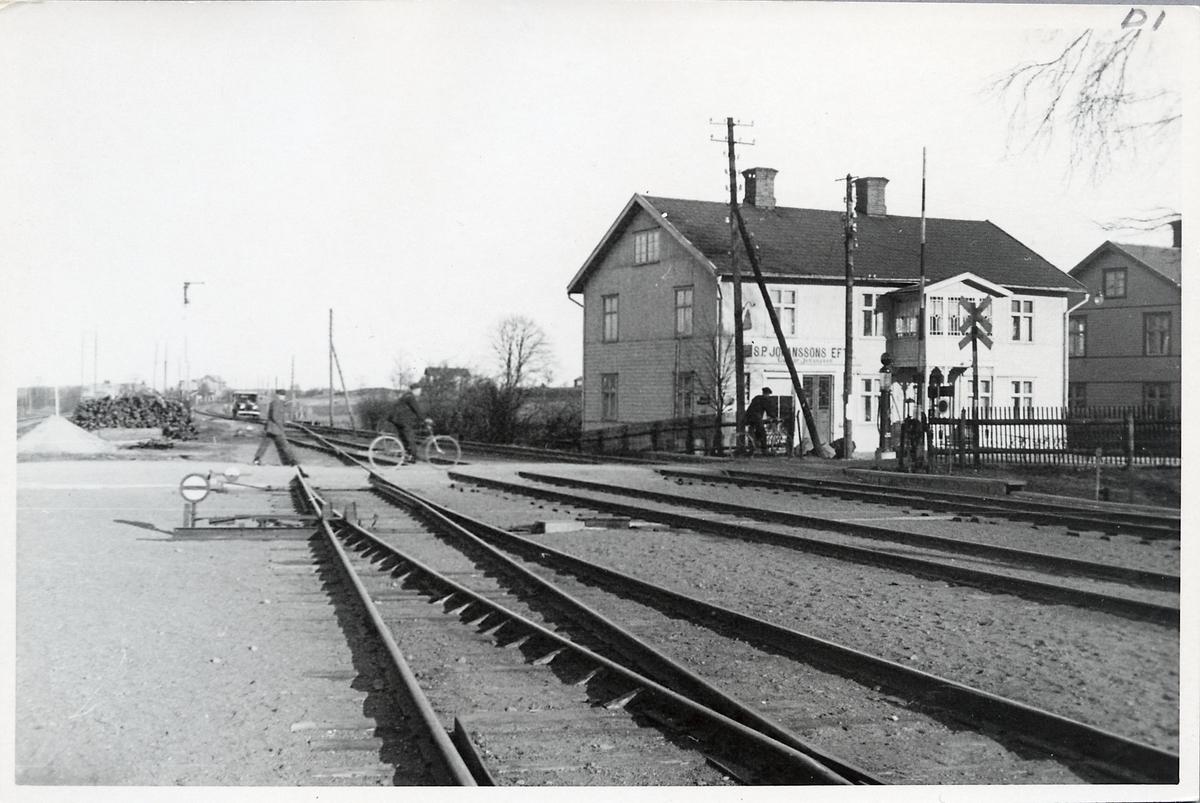 Järnvägsövergång i Stockaryd.
