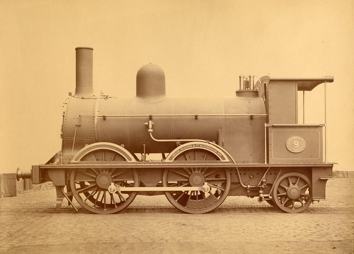 BJ 9 Tillverkat av Beyer,Peacock & Co 1875