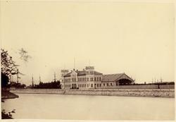 Malmö stationshus (nedbränt 1866) efter ombyggnaden av mittp