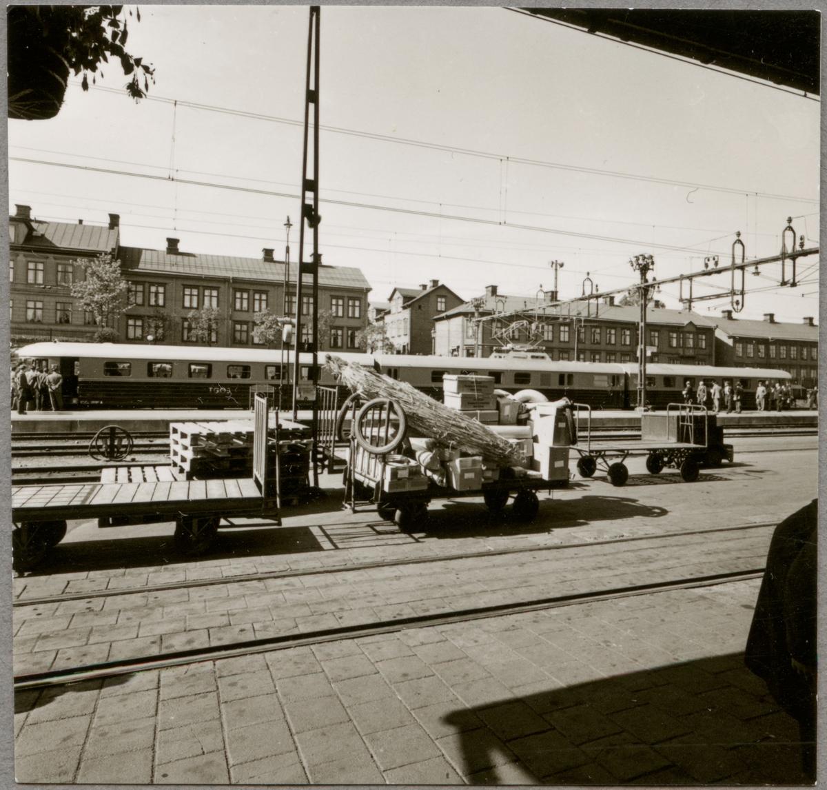 Från Trafikaktiebolaget Grängesberg - Oxelösunds Järnvägar, TGOJ:s styrelseresa maj 1956.