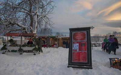 Området ved Urtehagen er blitt en aktiv del av Jul i BOrggården, med både julemarked og hesteridning for barn.